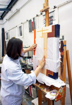 Malerin Nina Pops Strothhotte